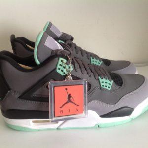 Air Jordan 4 Retro Dark Grey Green Glow