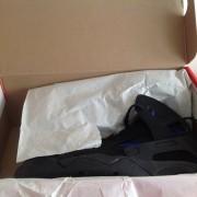 da2a16dbf2a Nike Air Flight Huarache Black Lyon Blue size 8.5