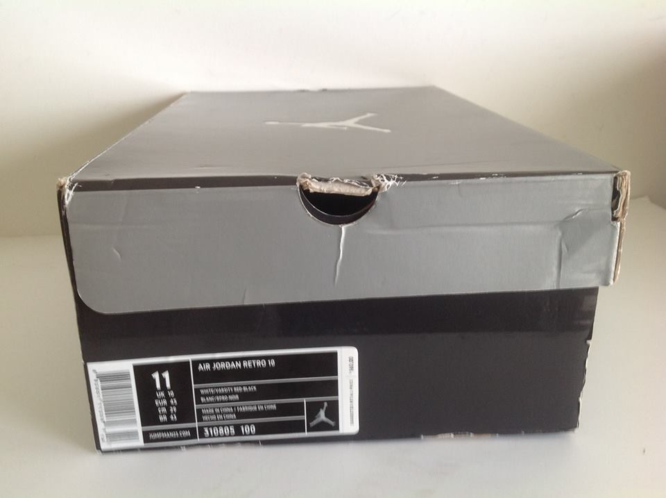 Online Nike Air Jordan 10 White Varsity Red Black 310805 100