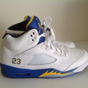 Air Jordan 5 V Retro Laney White blue Yellow 136027 189 1