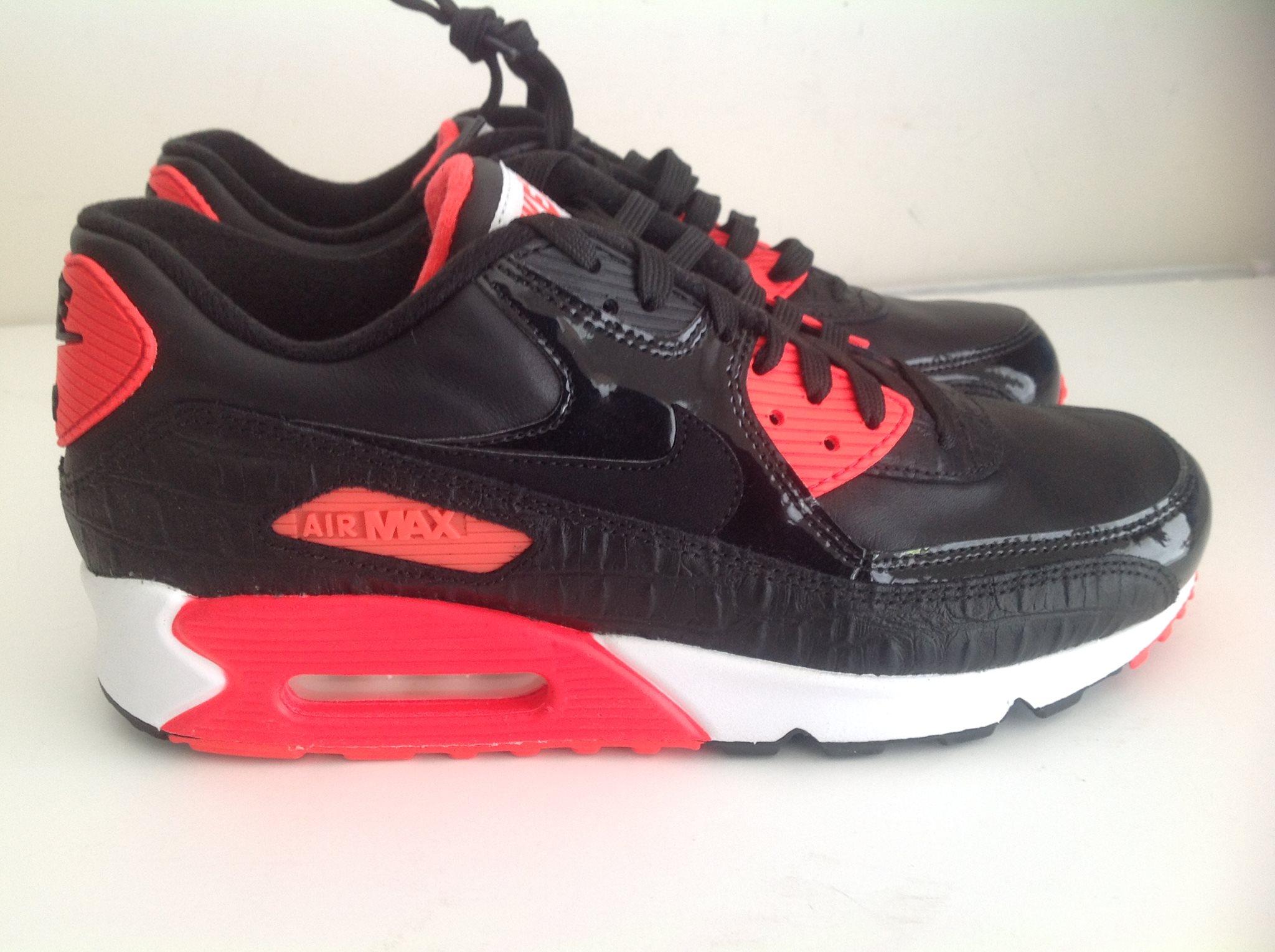 online store cafbd a992b Nike Air Max 90 25h anniversary black Croc Infrared White 725235 006