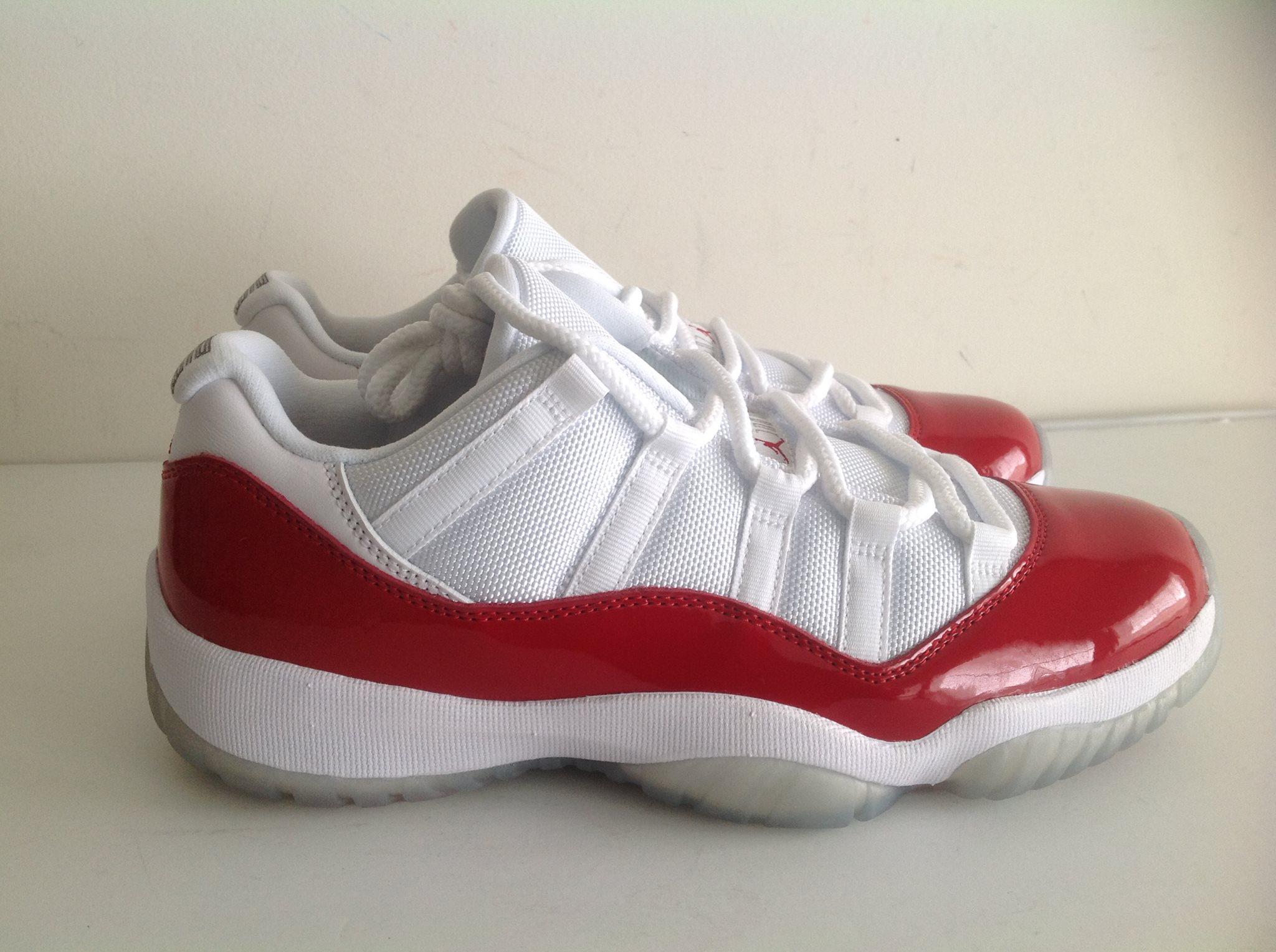 Air Jordan 11 Retro low Cherry White Varsity Red 528895 102