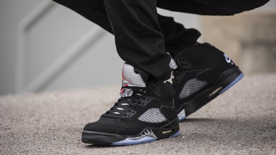 Nike Air Jordan 5 Retro Black Metallic