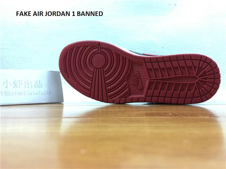 Air jordan 1 Banned 555088 001 fake 7