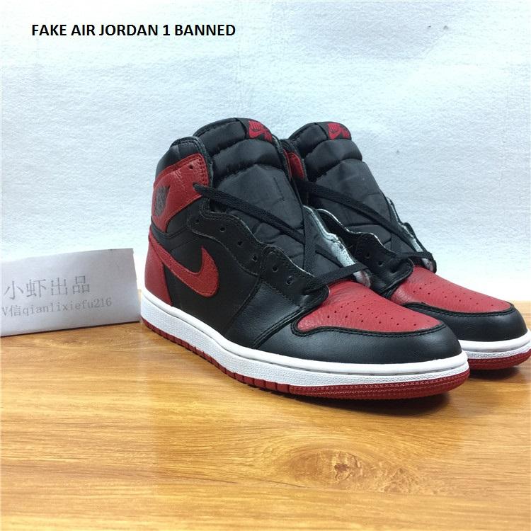 Air jordan 1 Banned 555088 001 fake