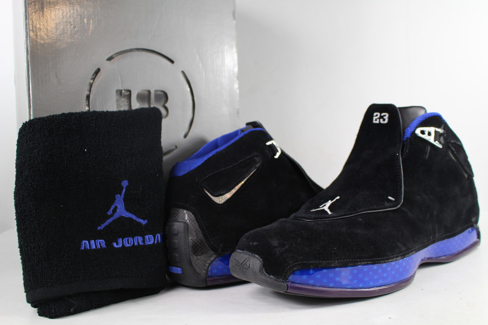 new concept 5245f a728e Nike Air Jordan Retro XVIII 18 Sport Royal Blue Black Size 10