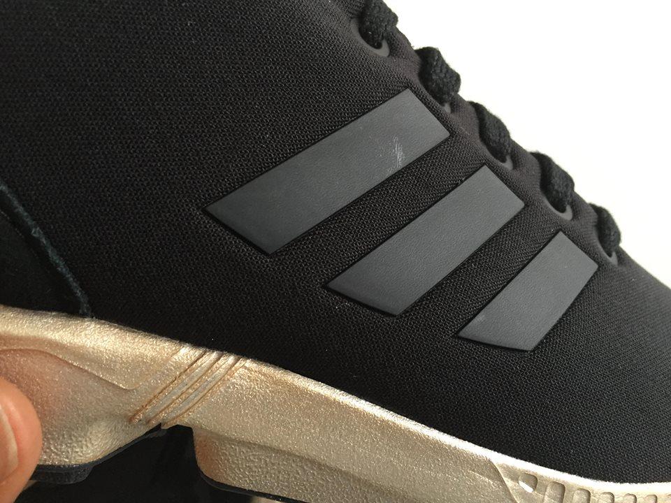 Wmns Adidas ZX Flux Black Copper Metallic Gold S78977 5