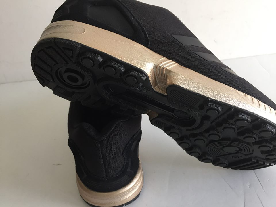 Wmns Adidas ZX Flux Black Copper Metallic Gold S78977 6