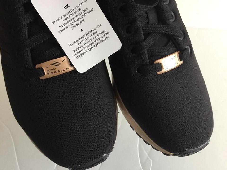 Wmns Adidas ZX Flux Black Copper Metallic Gold S78977 8