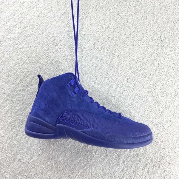 e5ef155b09841 An Early Look At The Air Jordan 12 Retro Blue Suede-Housakicks – Housakicks