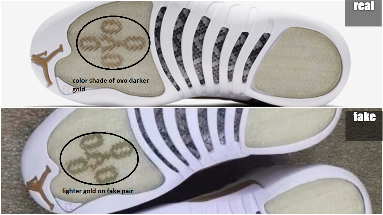 b8830cd3538 Fake Air Jordan 12 OVO Spotted: Quick Tips to Avoid Them – Housakicks