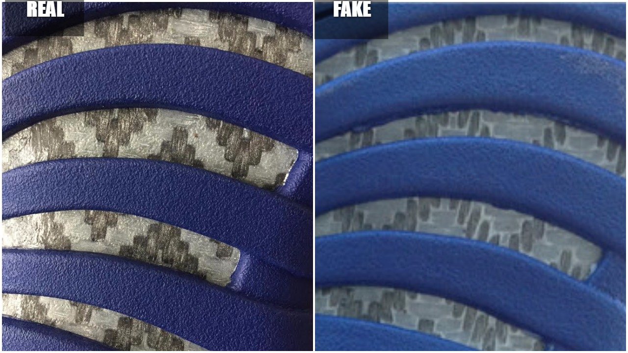 3aab59897d26 Real VS Fake Air Jordan 12 Suede Blue  Quick Tips To Avoid Them ...