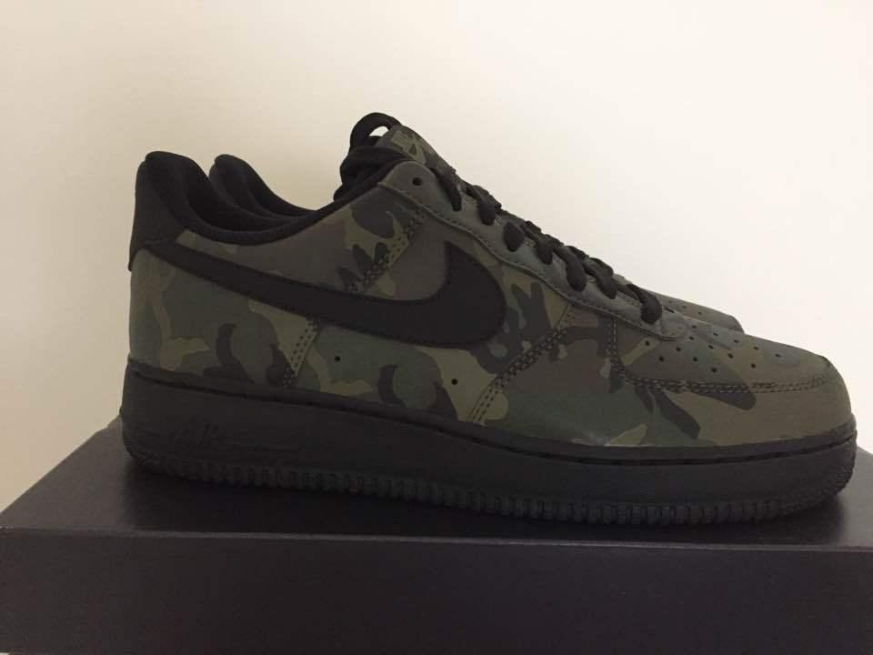 3e6d5e52e2734 Men's Nike Air Force 1 One Low Jungle Camo 3M Reflective New ...