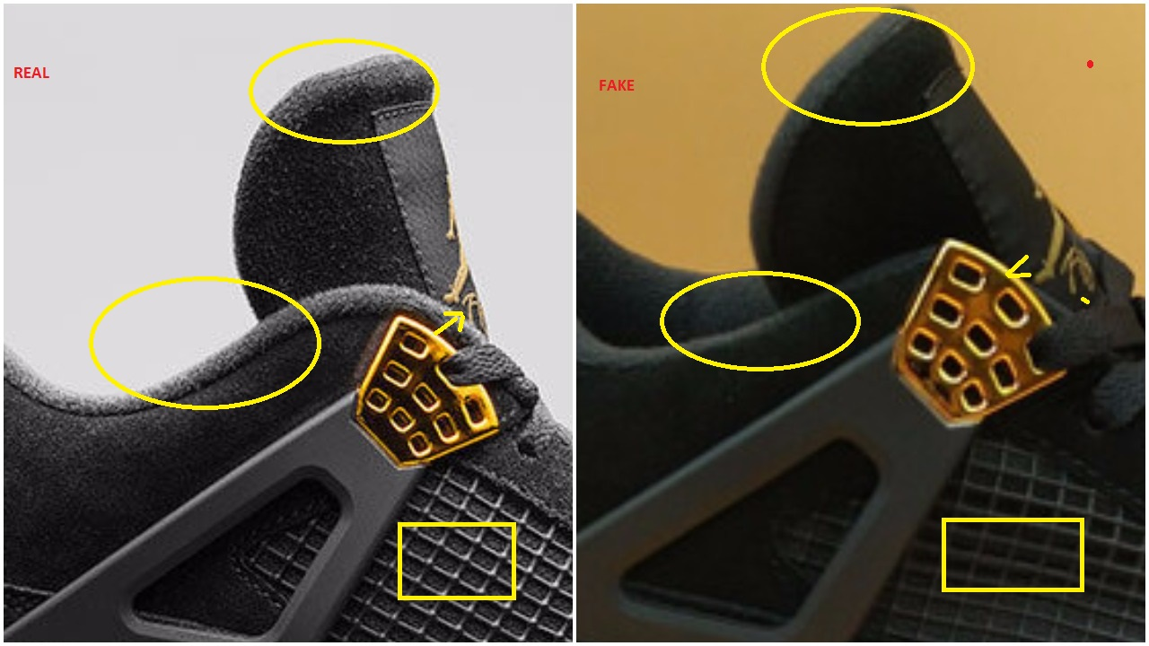 d619947c474302 Real Vs Fake Air Jordan 4 Retro Royalty 308497-032 – Housakicks