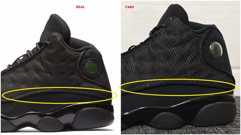 a306f35c26b7ca Don t Get Got   Real VS Fake Air Jordan 13 XIII Retro Black Cat – Housakicks
