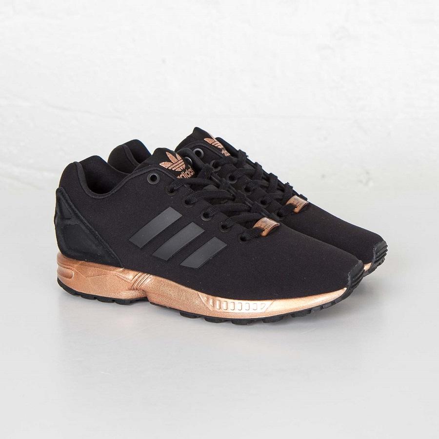 Womens Adidas ZX Flux Black Copper S78977 6