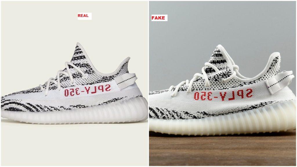 Fake Adidas Yeezy Boost 350 V2 Zebra
