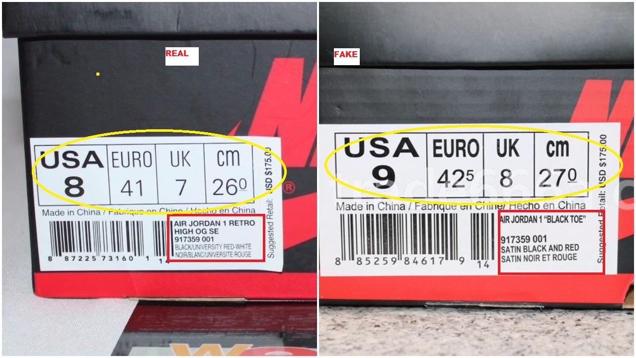 air jordan made in china fakes
