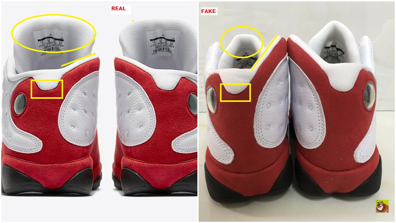 Air Jordan 13 Réelle Vs Yeezys Faux
