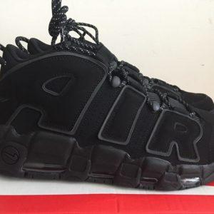 Nike Air More Uptempo 3M Triple Black 414962 004
