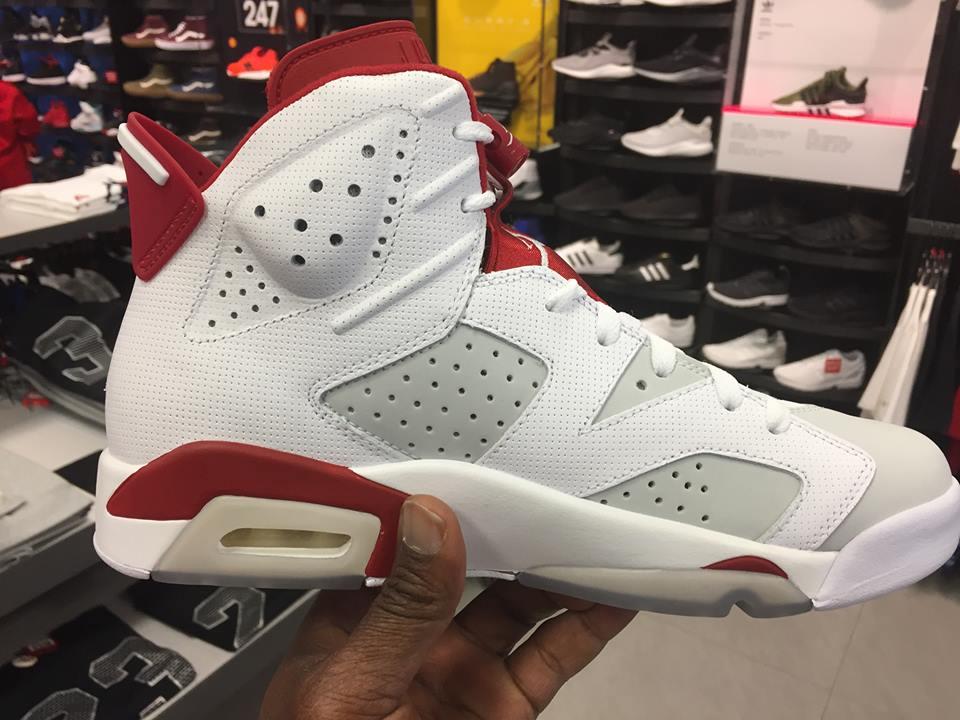 Air Jordan Retro 6 (GS) Countdown Pack White Black Carmine