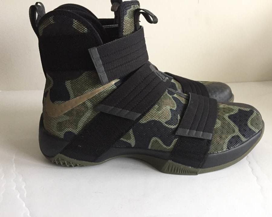 8d4c075091 Nike Lebron Soldier 10 SFG Black Camo Bamboo New