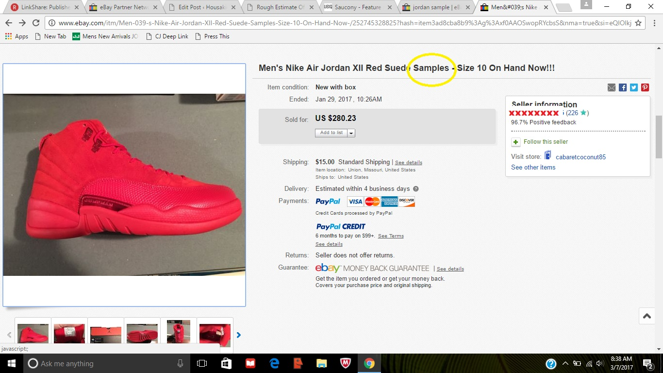 buy popular 6d0c3 9f0f2 Rough Estimate Of The Number Of Openly Fake Jordans Sold On Ebay In February