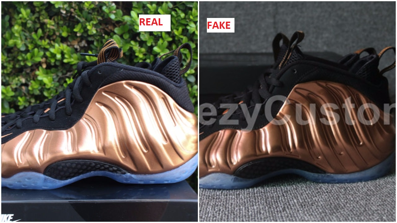 quality design 8d121 ceb28 Quick Tips To Spot The Fake Air Foamposite One Copper