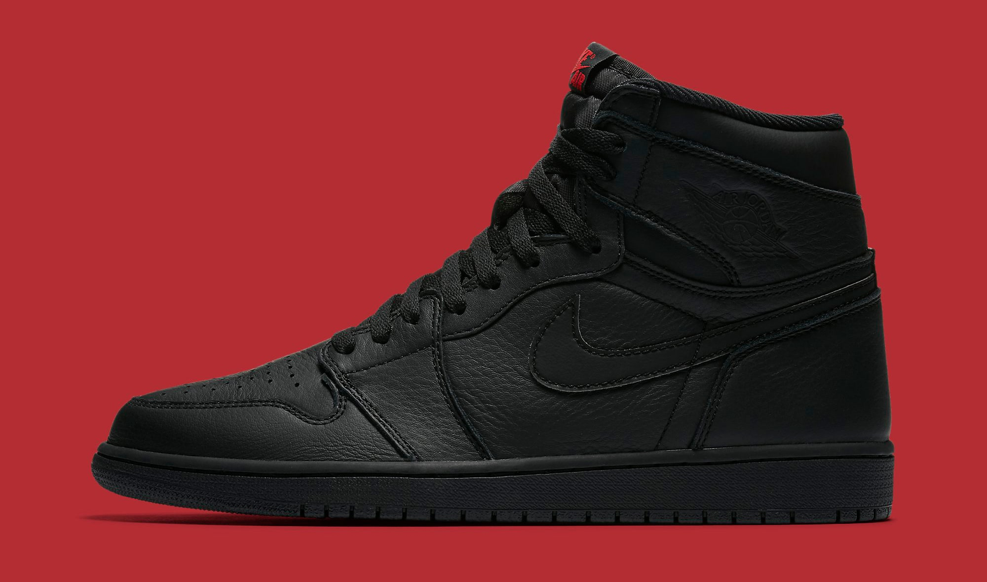 all black jordan 1 high