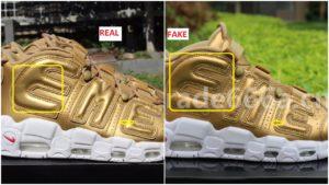 real vs fake supreme air more uptempo