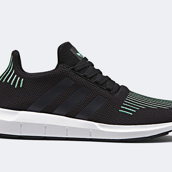 Adidas Originals swift run Core Black Green CG4110