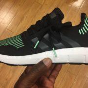 Adidas Originals Swift Run Shoes Black Green CG4110 1