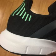 Adidas Originals Swift Run Shoes Black Green CG4110 2