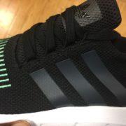 Adidas Originals Swift Run Shoes Black Green CG4110 3