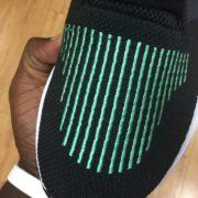 Adidas Originals Swift Run Shoes Black Green CG4110 4