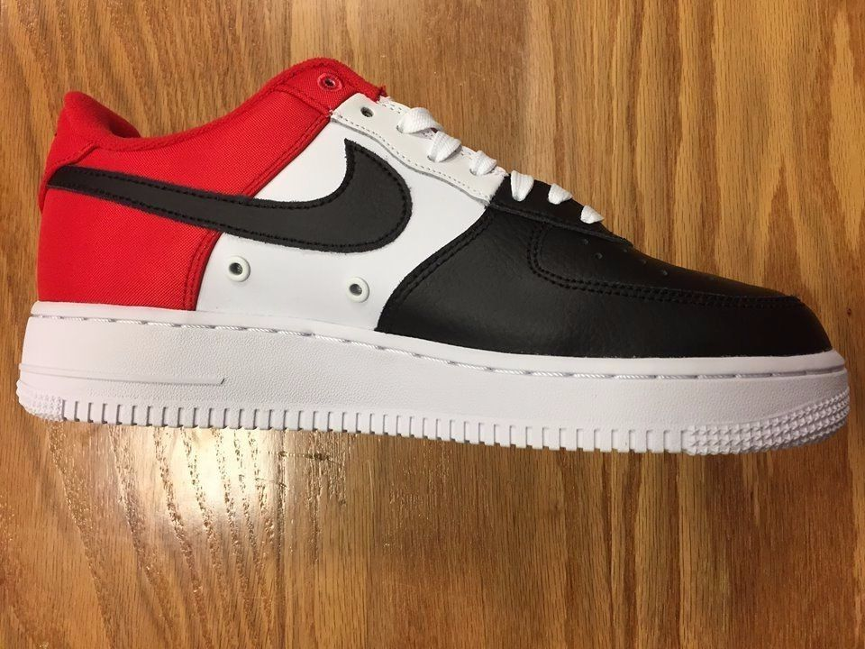 bc75d6b1387 Nike Air force 1 Mini Swoosh Red White Black 823511 603 Buy It Now ...