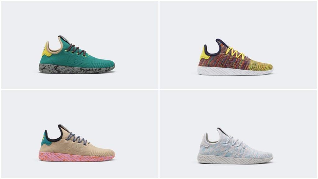 73f334b6ef4a7 Pharrell Adidas Tennis Hu Collection- Release Details