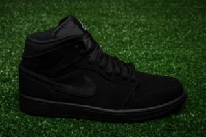 6a7e92ff88dc Triple Black Air Jordan 1 Mid Suede 554724 040 – Housakicks