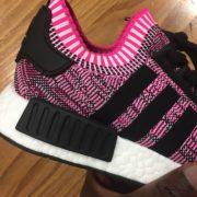 Women's Adidas NMD R1 Shock Pink Core White BB2363 2