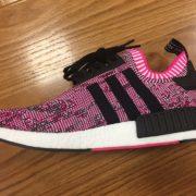 Women's Adidas NMD R1 Shock Pink Core White BB2363 3