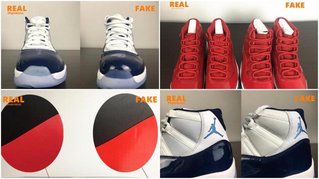 mens air jordan 11 gym red real vs fake