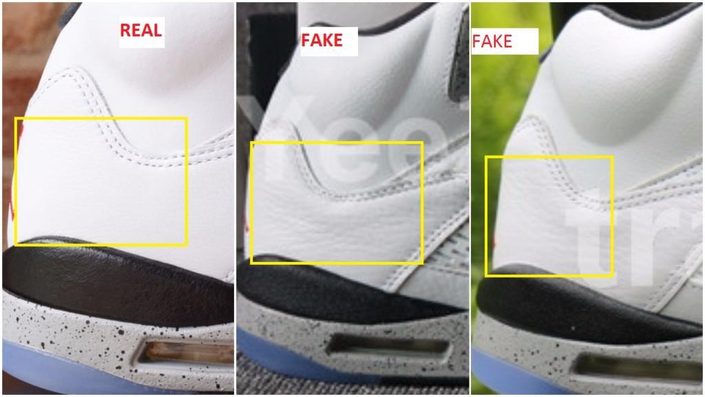 Fake Air Jordan 5 V White Cement
