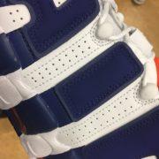 Nike Air more Uptempo 96 NYC Knicks #33 White Blue Orange 921948 101 3