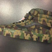Unisex Vans Sk8 Hi Velcro Classic Camouflage Print