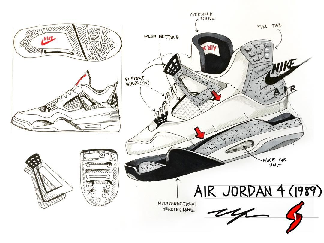 ... Air Jordan 4 White Cement Originally Released in 1989 Air Jordan 5  Black Metallic Silver 1990 ... e9247a48d