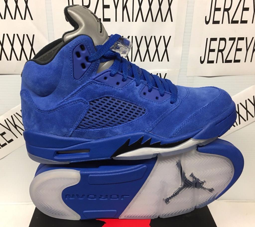 edb58c73f437 Buy It Now For Retail Air Jordan 5 Blue Suede 136027-401 – Housakicks
