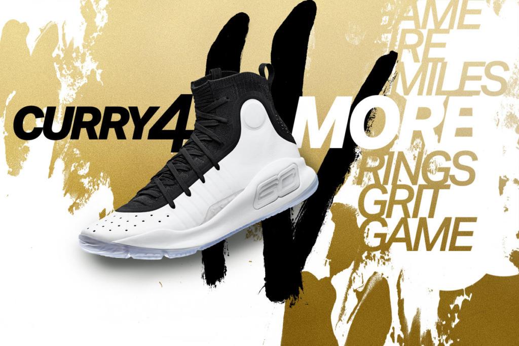 ebc0845ade62 Buy It Now Under Armour UA Curry 4 White Black 1298306-0007 – Housakicks