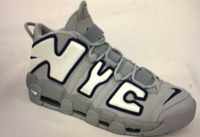 the latest d22e6 7ebe9 Nike Air More uptempo nyc gray navy AJ3137 001