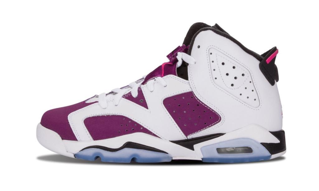 low priced 83355 89ba1 Kids Air Jordan 6 Grapes White ...