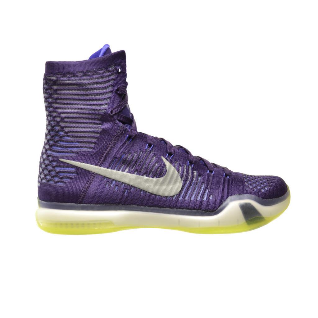 50b1f0898853 Men s Nike Kobe X 10 Elite Grand Purple Silver 718763-505